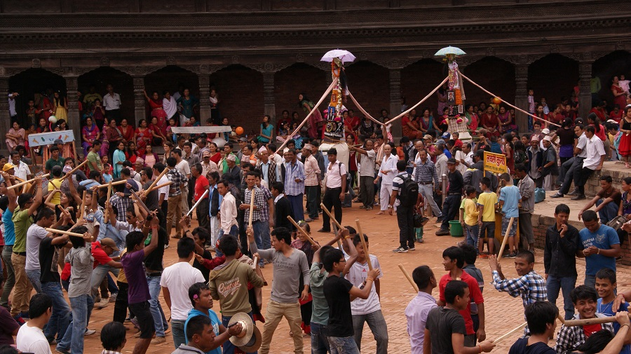 Participate in the Gaijatra Carnivals