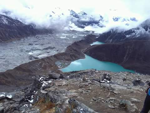 Nangpa La,  Renjo La and  Gokyo Valley in Everest region.